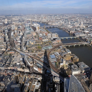 The View from The Shard on one of the warmest days of the year so far.